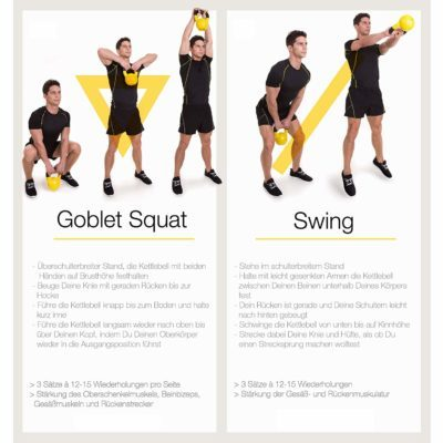 GORILLA SPORTS Kettlebell Stylish, Kettlebell Workouts für Anfänger